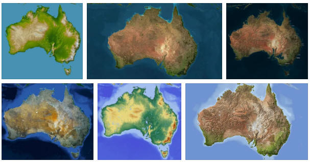 Australia: geography, general map