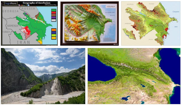 Azerbaijan: geography, map