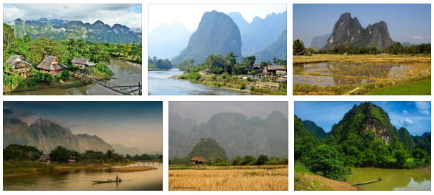 Laos: geography, map