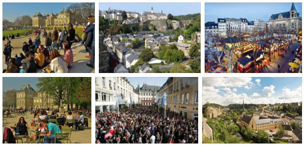Luxembourg: population and cities