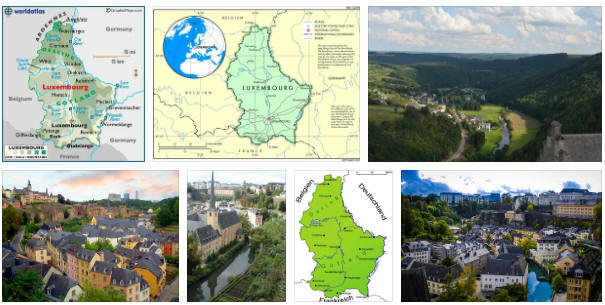 Luxembourg: geography, map