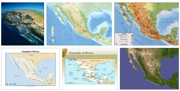 Mexico: geography, map
