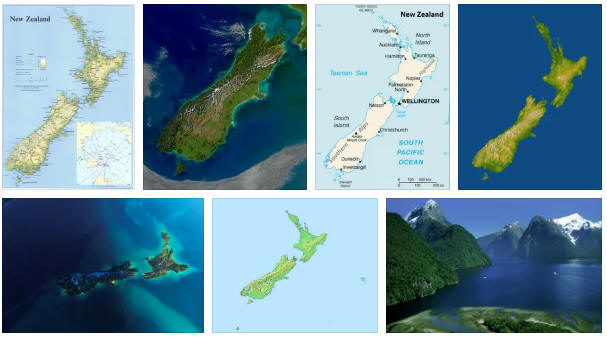 New Zealand: geography, map