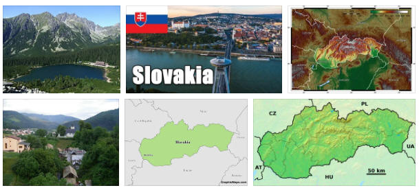 Slovakia: geography, map