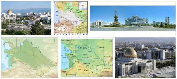 Turkmenistan: geography, map