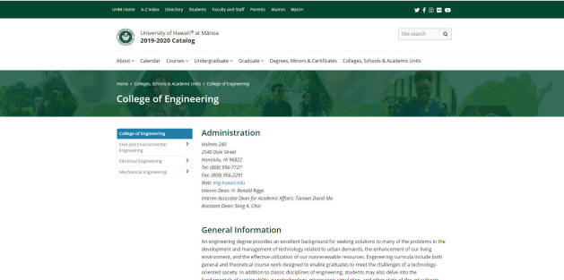 University of Hawaii-Manoa Engineering School
