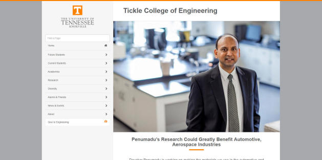 University of Tennessee-Knoxville Engineering School
